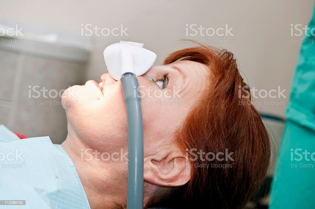 Nitrous Oxide Laughing Gas stock photo