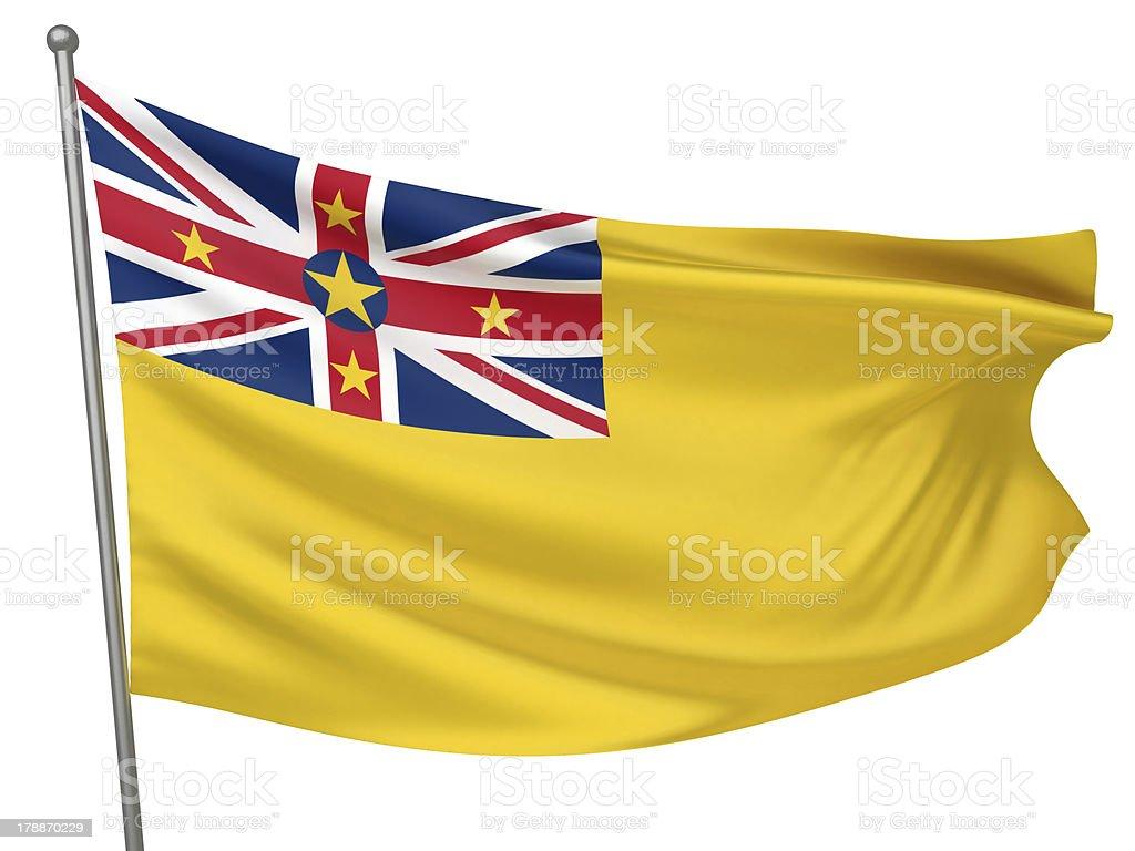 Niue National Flag stock photo