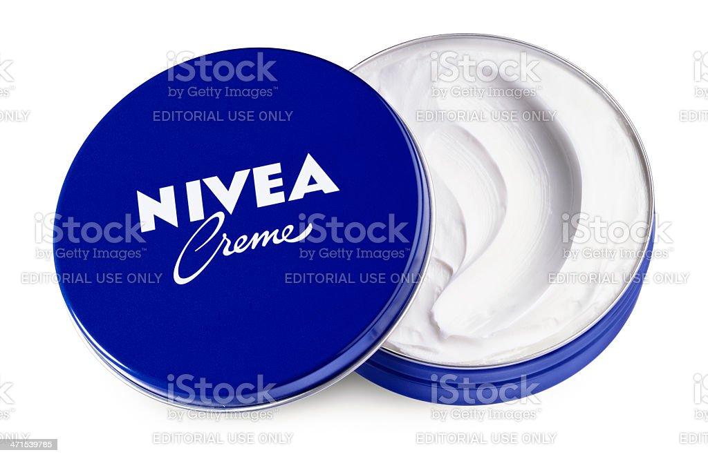 Nivea Cream royalty-free stock photo