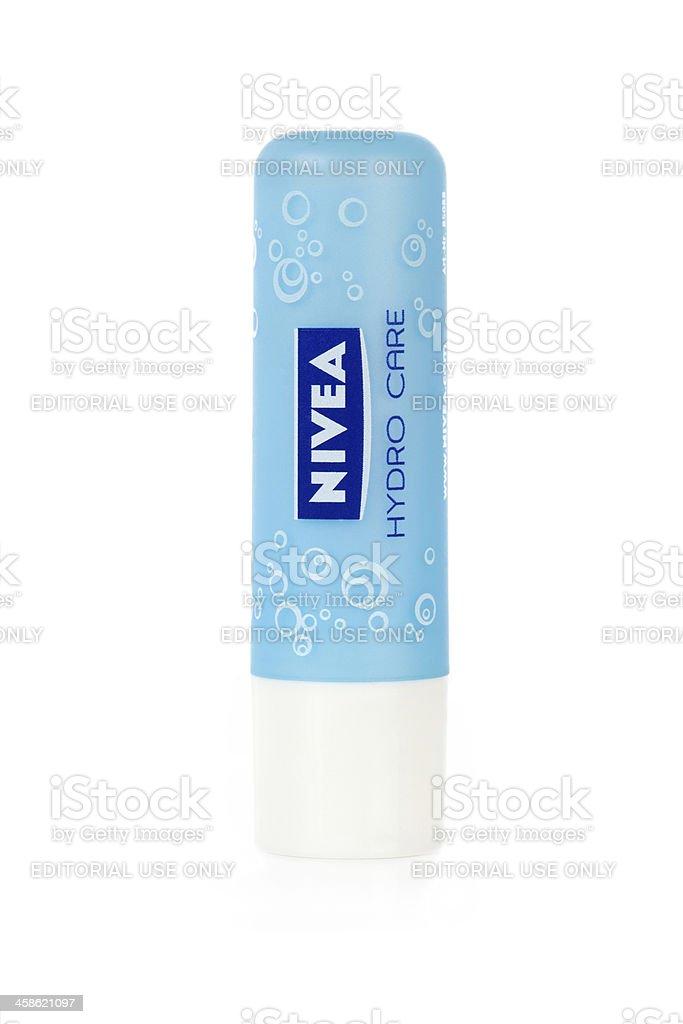 Nivea Hydro Care Lip Balm stock photo