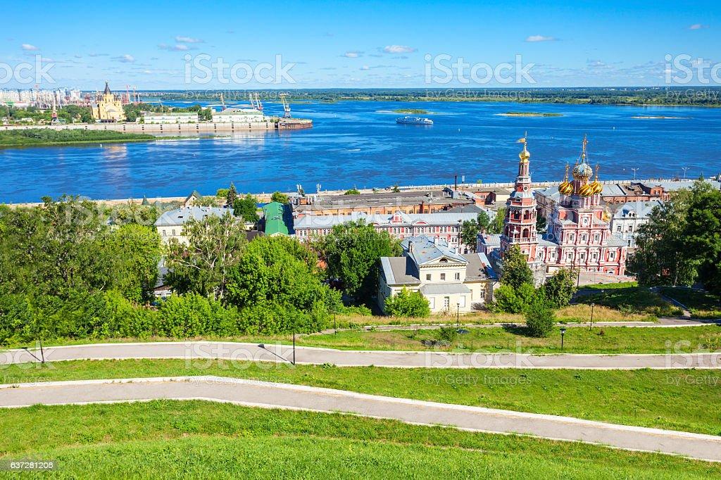 Nizhny Novgorod aerial view stock photo