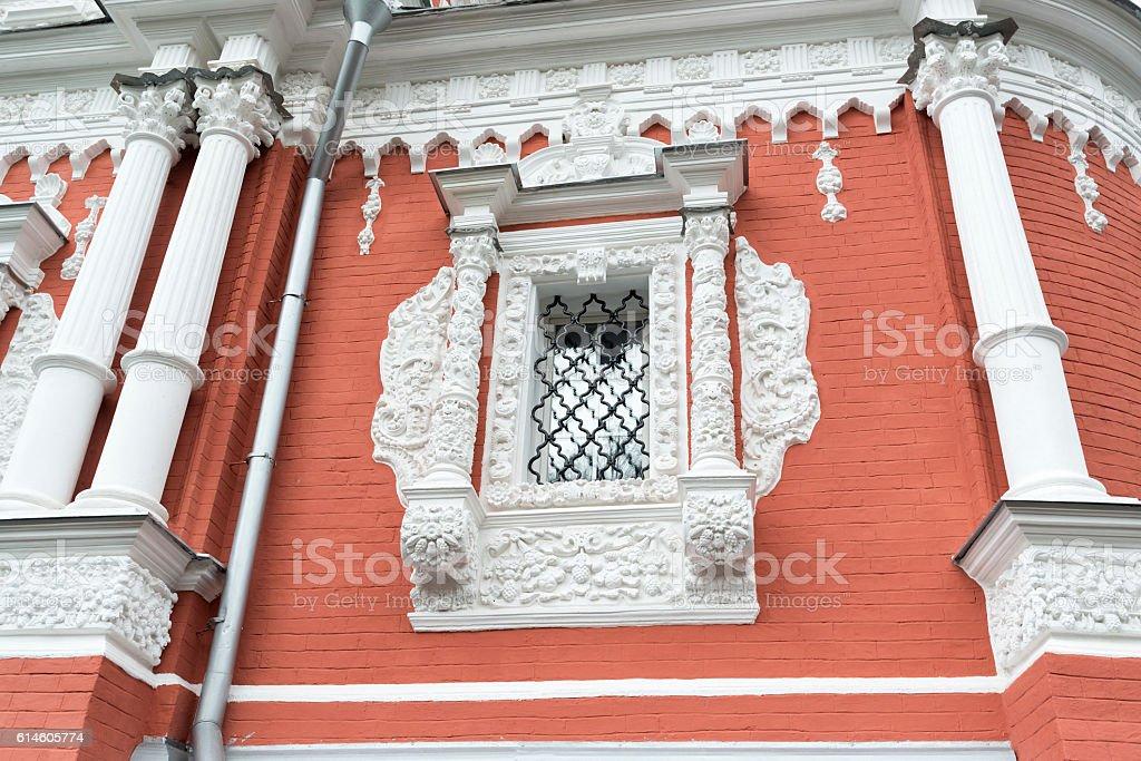 Nizhny Novgorod, Russia. decorated   windows at Church of  Nativity stock photo