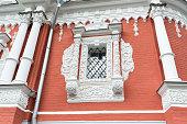 Nizhny Novgorod, Russia. decorated   windows at Church of  Nativity