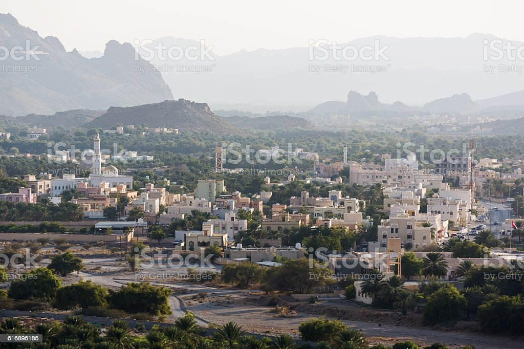 Nizwa during sunset, Oman stock photo