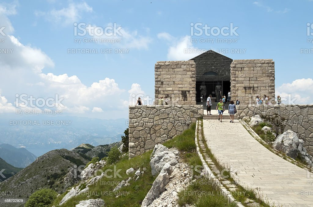 Njegoš Mausoleum on Lovćen Mountain royalty-free stock photo