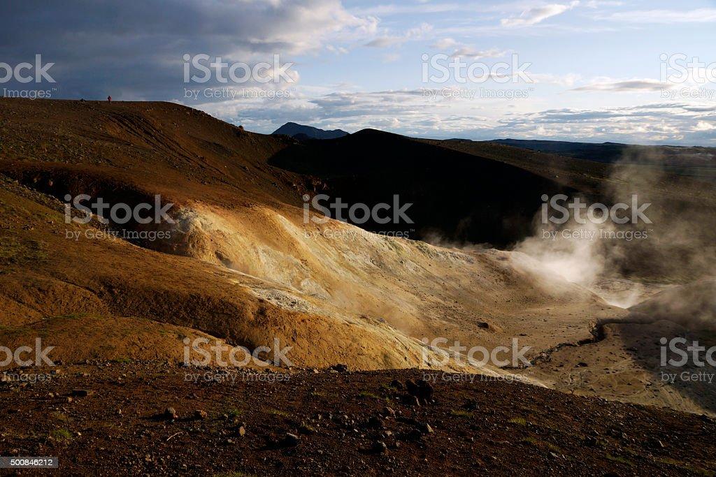 Námaskarð - Geothermal area stock photo