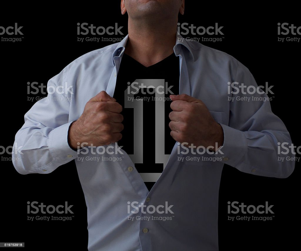 No 1 Man stock photo