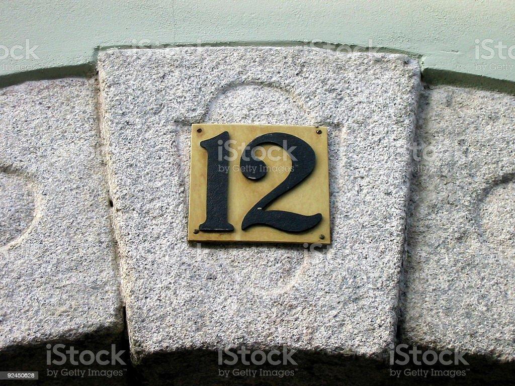 no. 12 stock photo