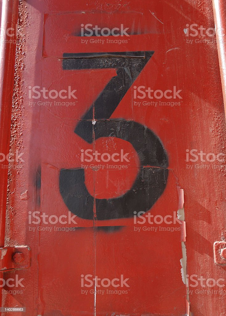 no 3 royalty-free stock photo