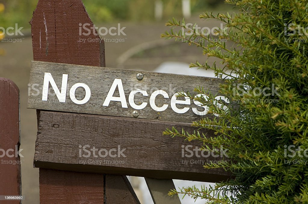 No access sign stock photo