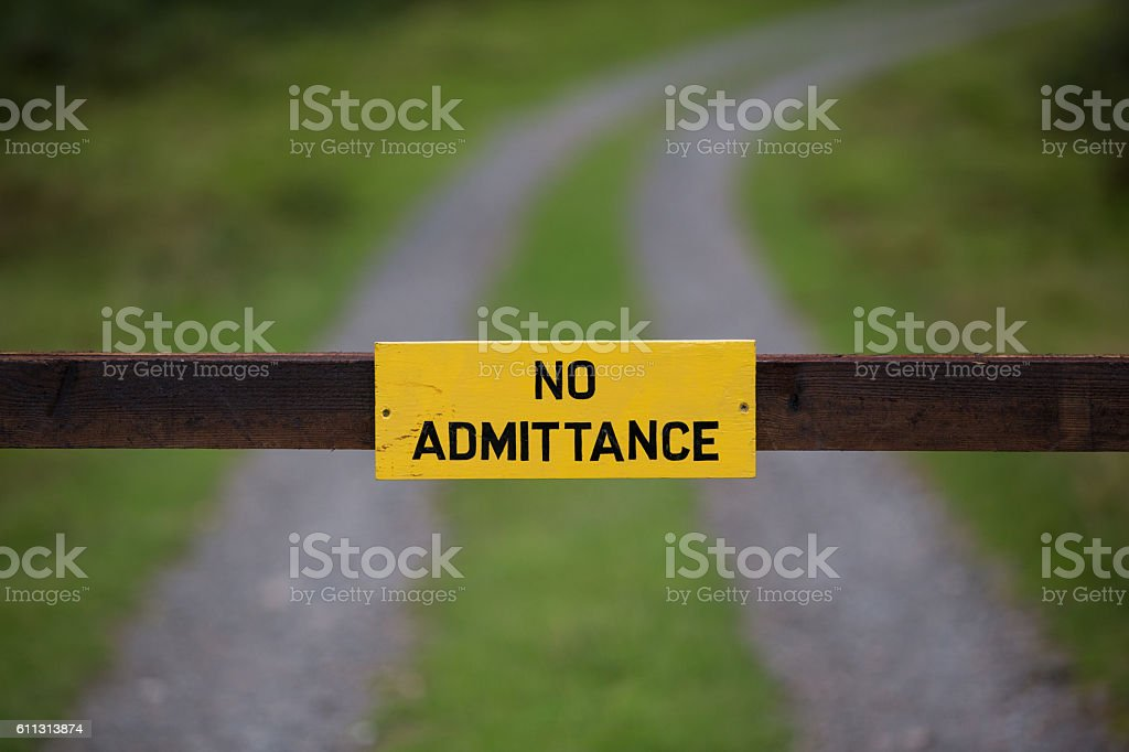 No Admittance stock photo