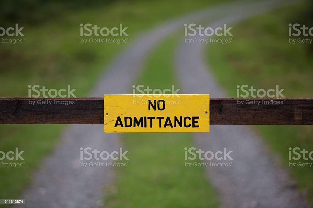 No Admittance stock photo