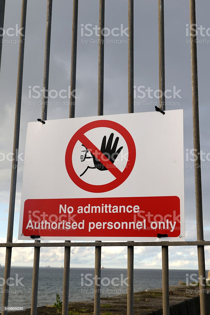 No Admittance Sign stock photo