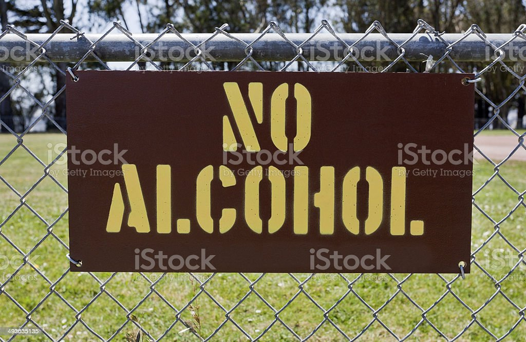 No Alcohol stock photo