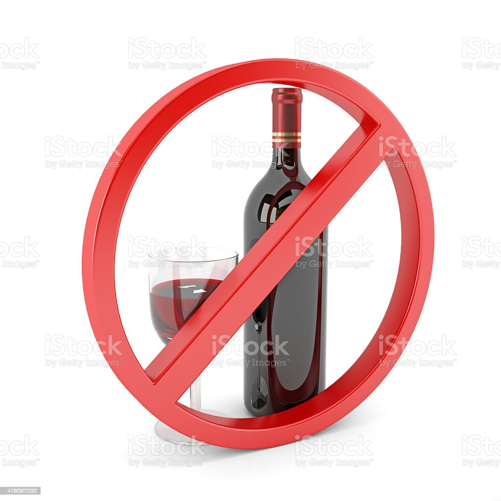 No alcohol sign stock photo
