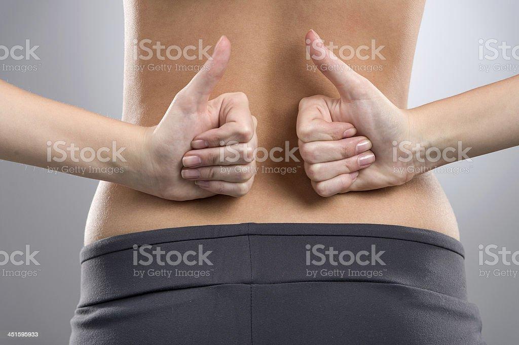 No back ache. stock photo