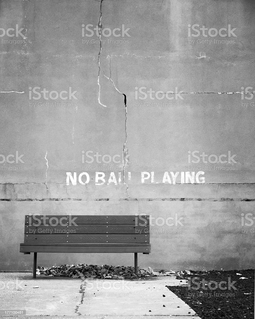 No Ball Playing royalty-free stock photo