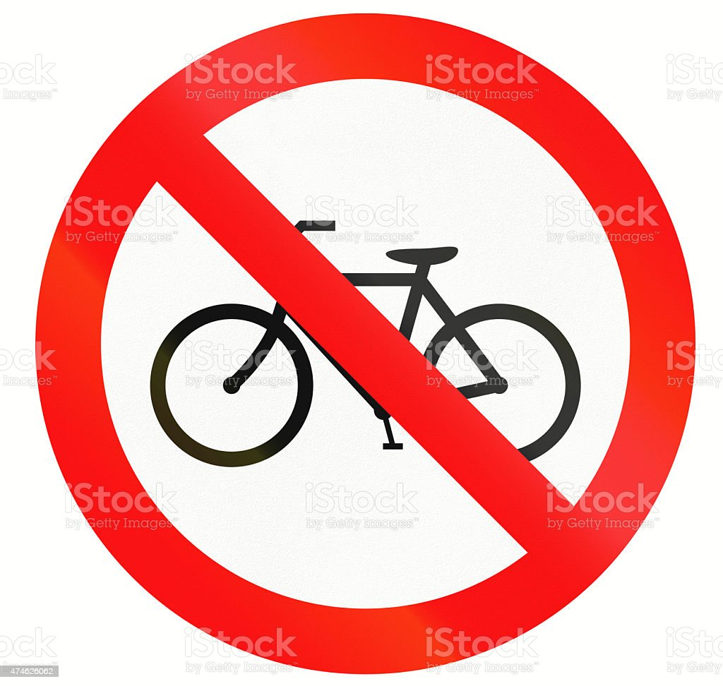 No Bicycles in Indonesia stock photo