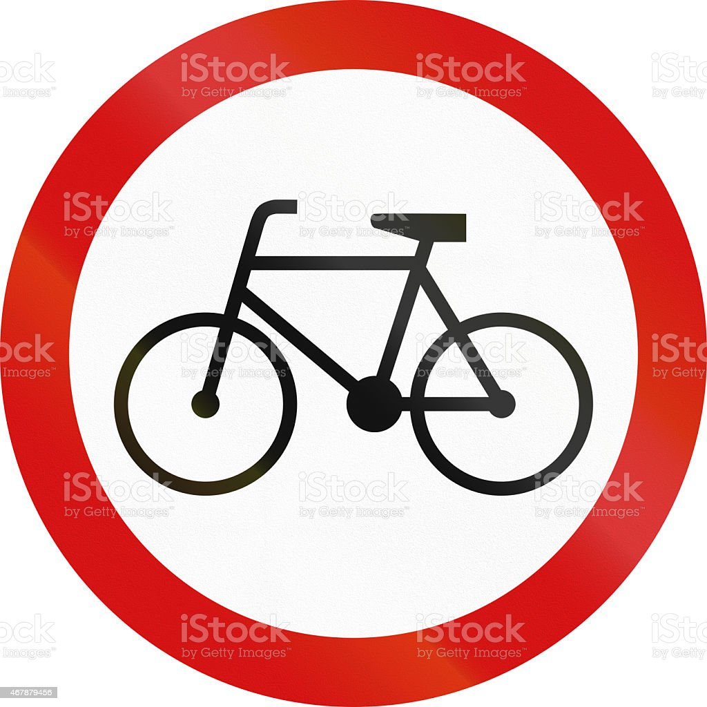 No Bicycles in Poland stock photo