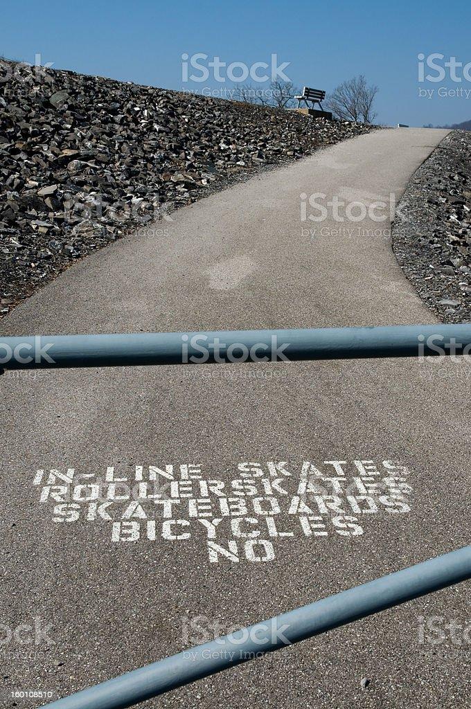 Não há bicicletas foto royalty-free