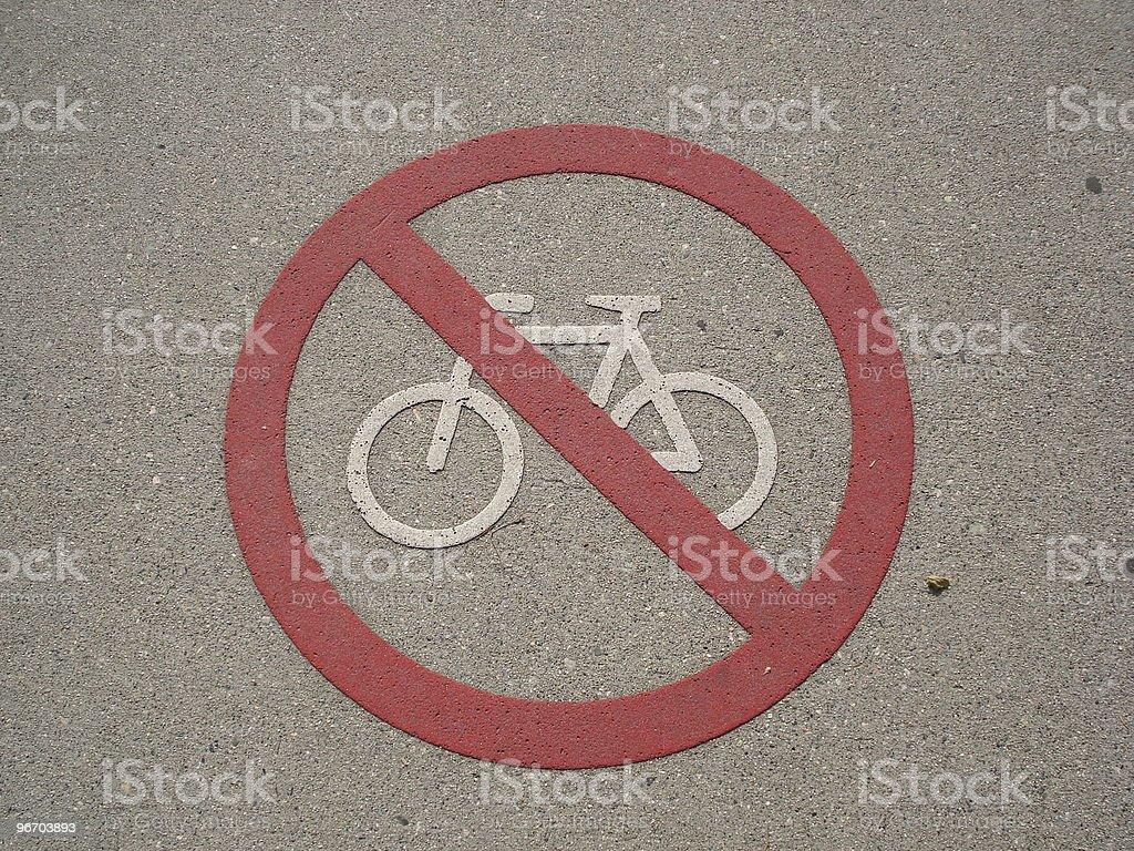 No bike sign royalty-free stock photo