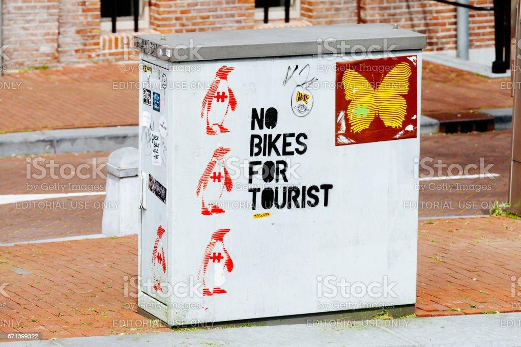 No Bikes For Tourist stock photo