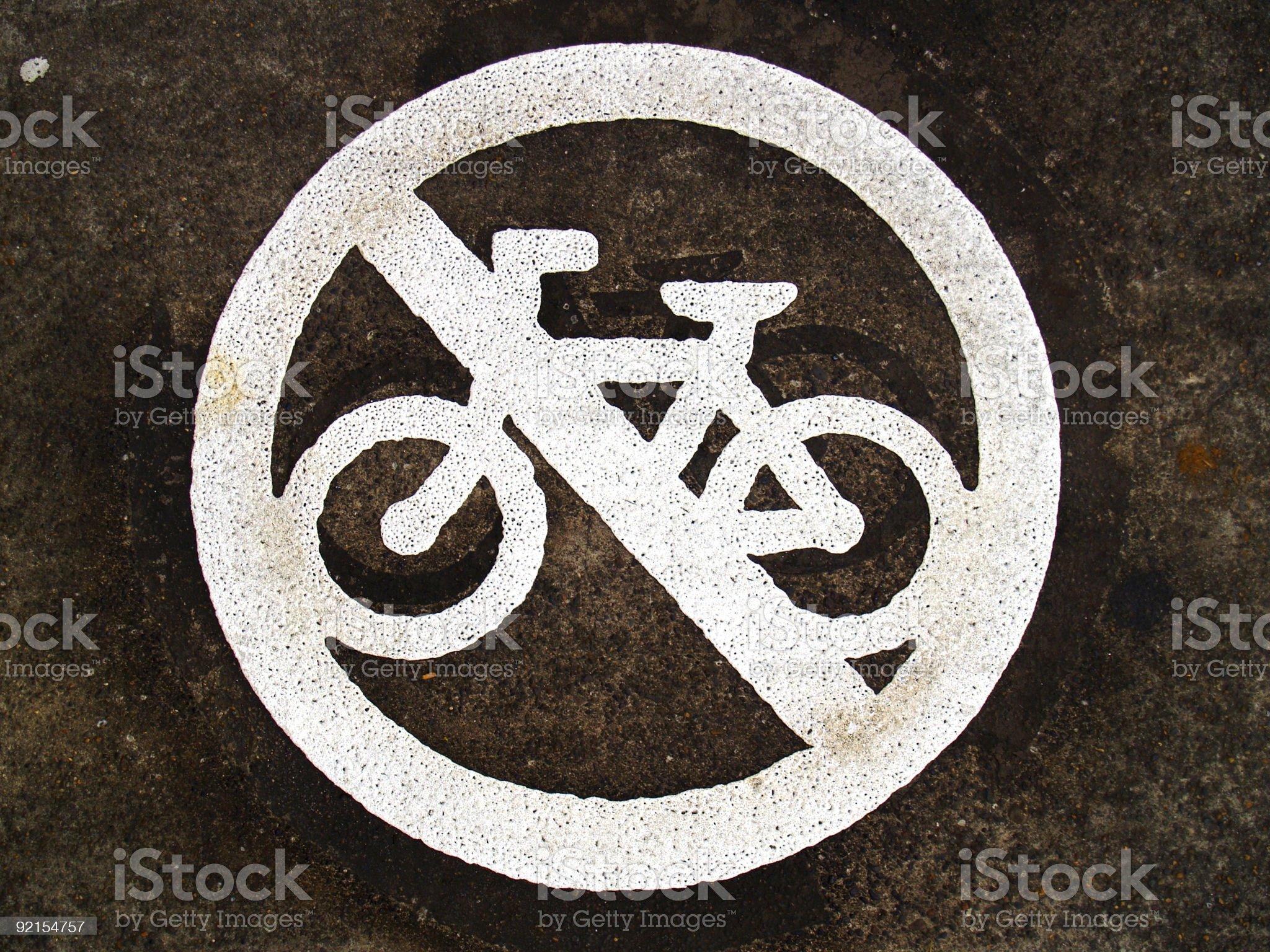 No Biking royalty-free stock photo