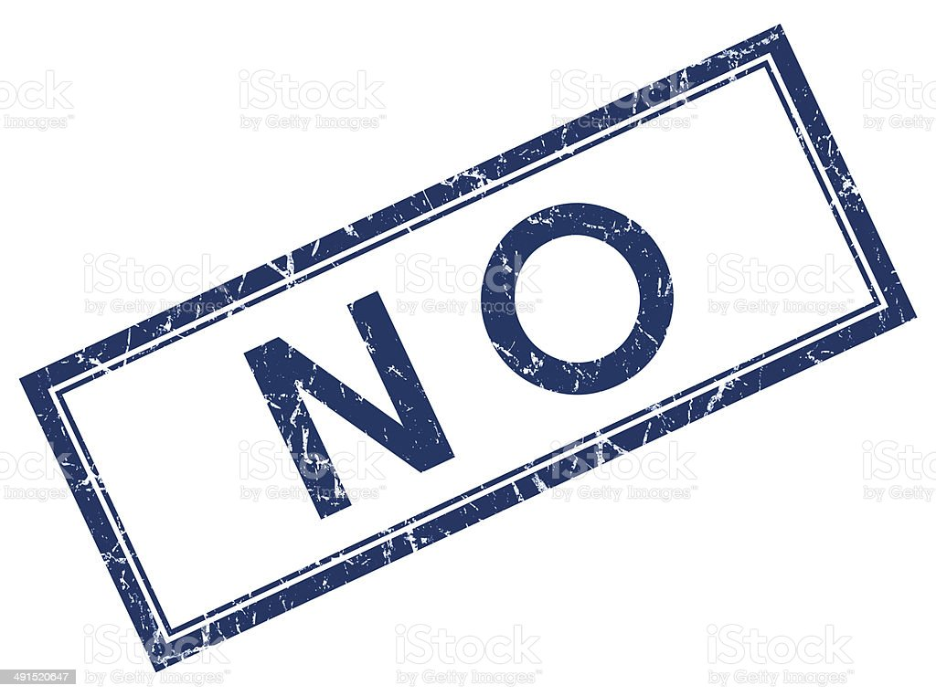 no blue square stamp stock photo