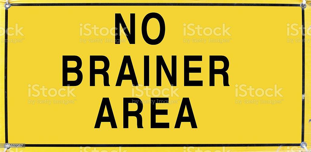 No Brainer Area stock photo