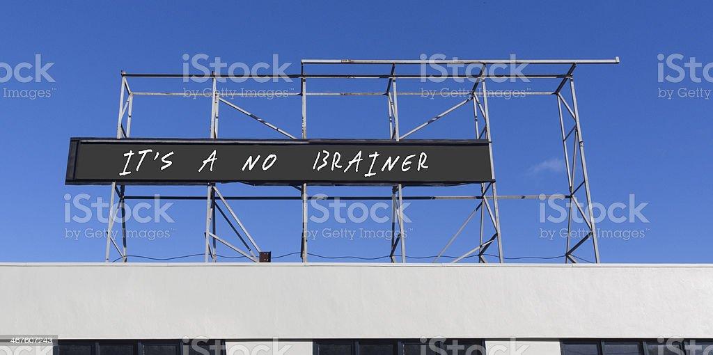 No Brainer stock photo