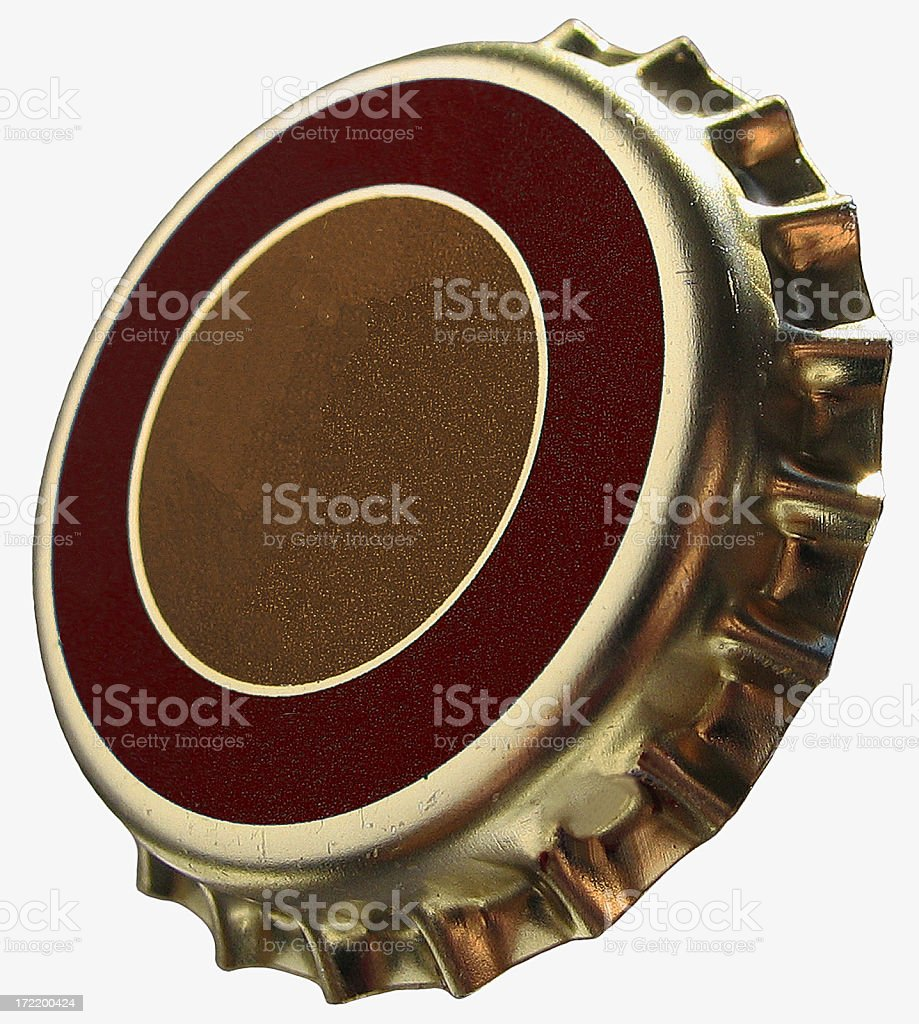 No brand bottle cap isolated on white royalty-free stock photo