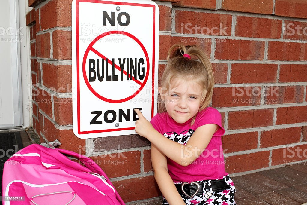 No Bullying Zone stock photo