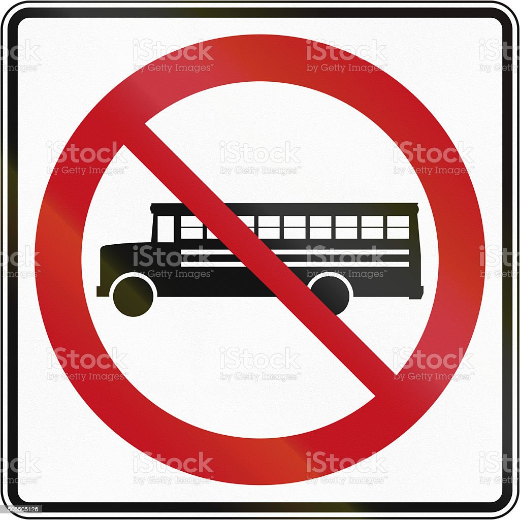 No Buses in Canada stock photo