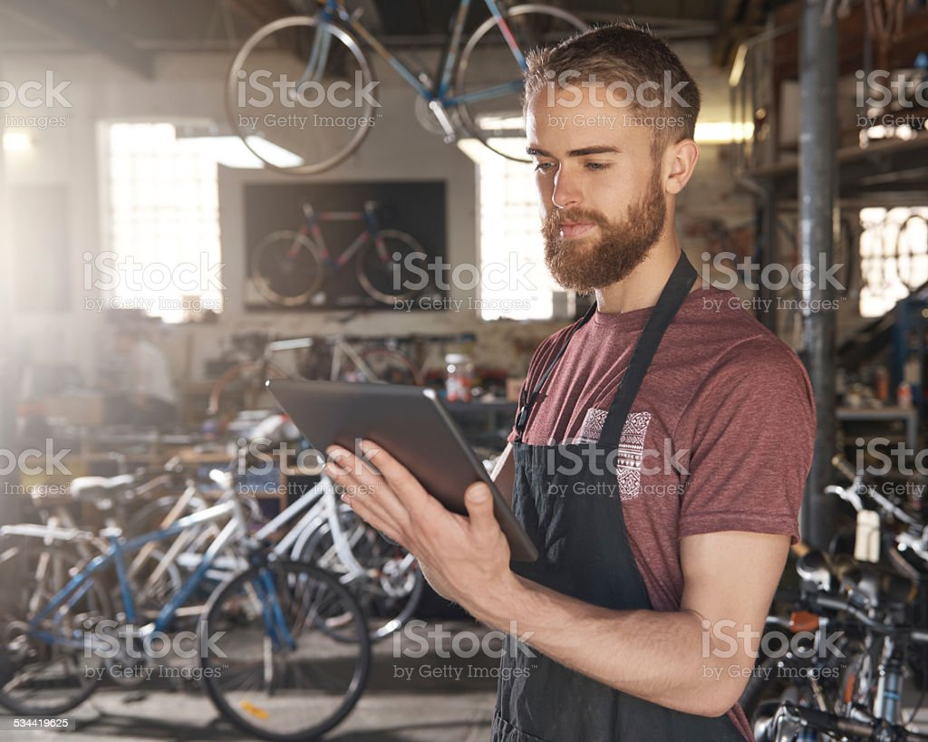 No business is too small to benefit from modern technology stock photo