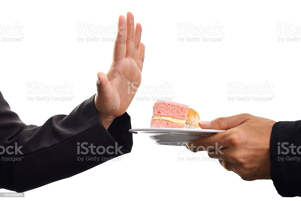 No cake for weight loss. stock photo