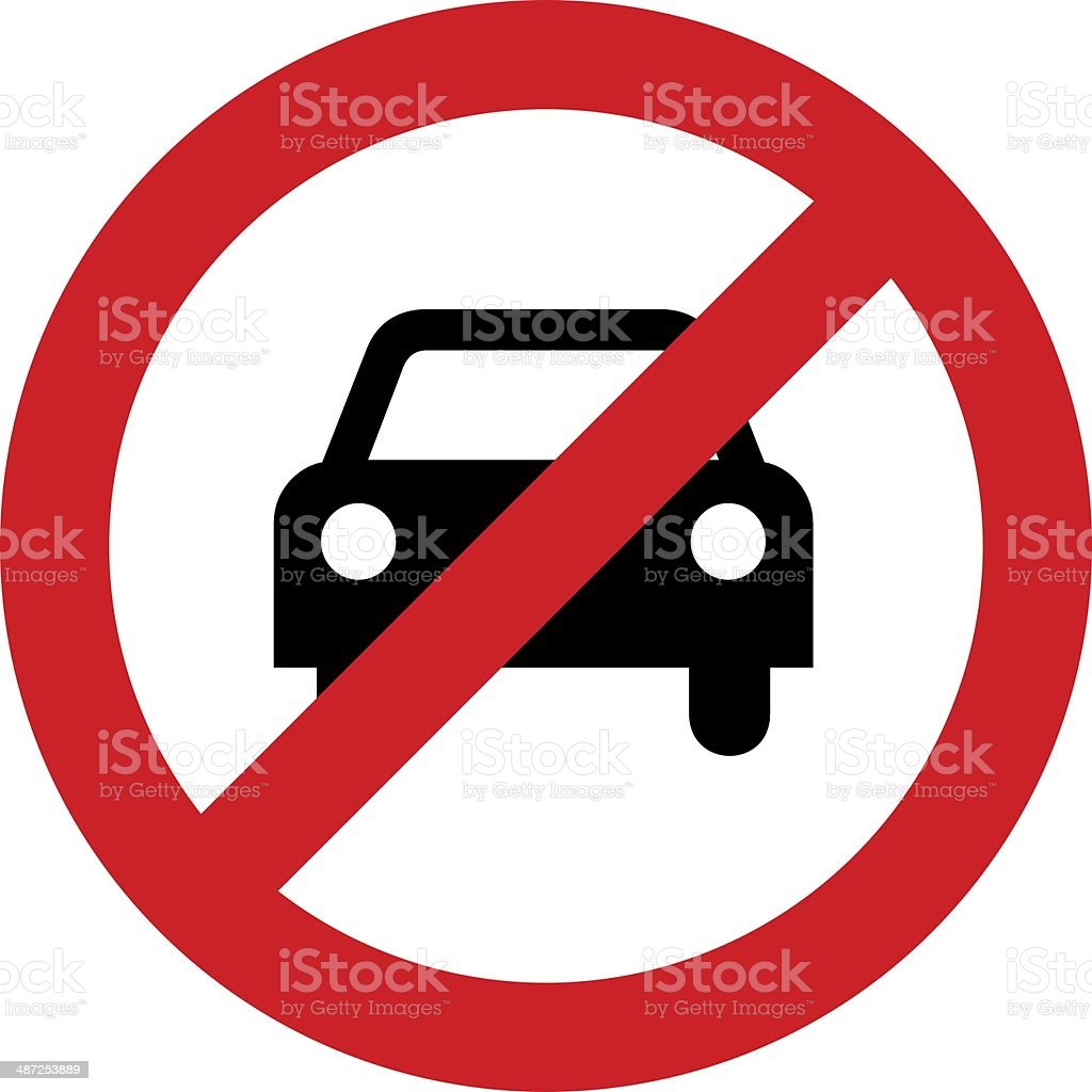 No car or no parking sign stock photo