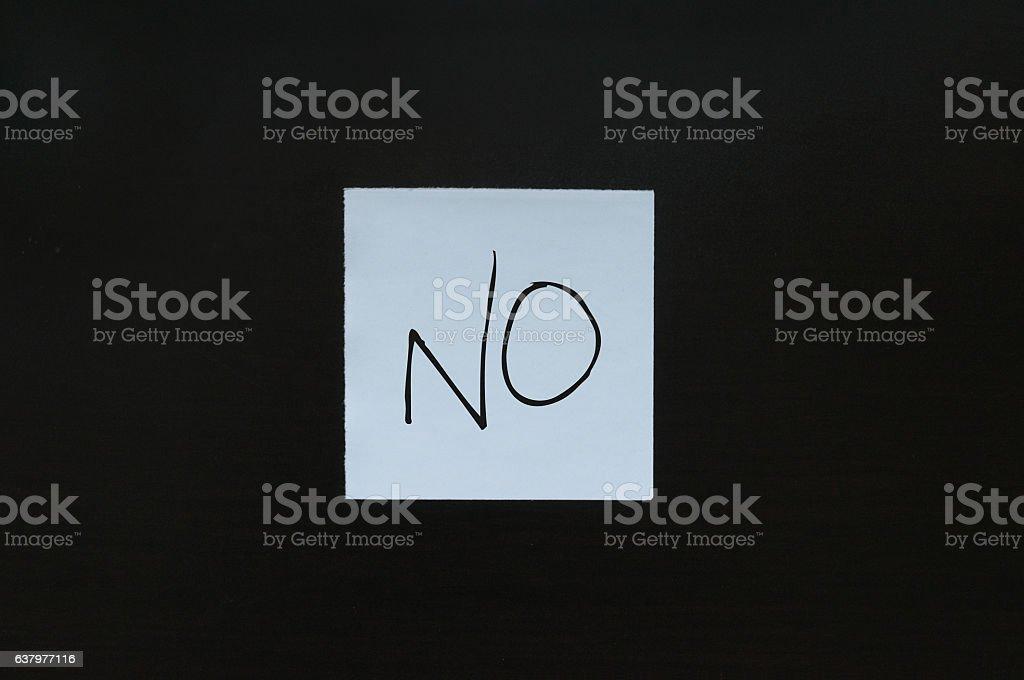 No  card stock photo