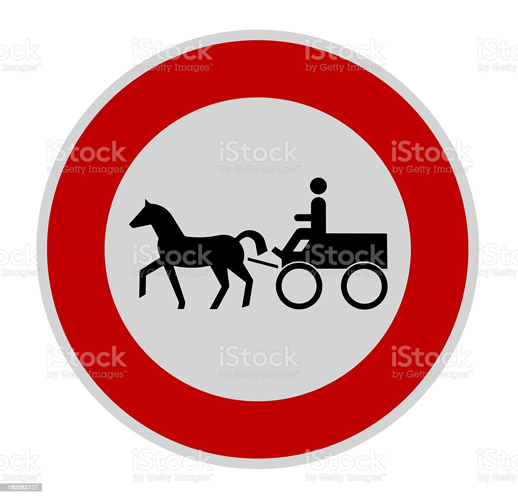 no carriage sign royalty-free stock photo