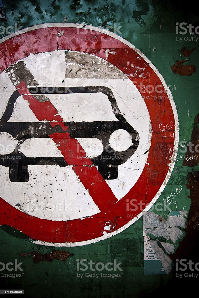 no cars sign royalty-free stock photo