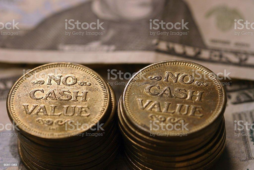 No Cash Value 4 stock photo