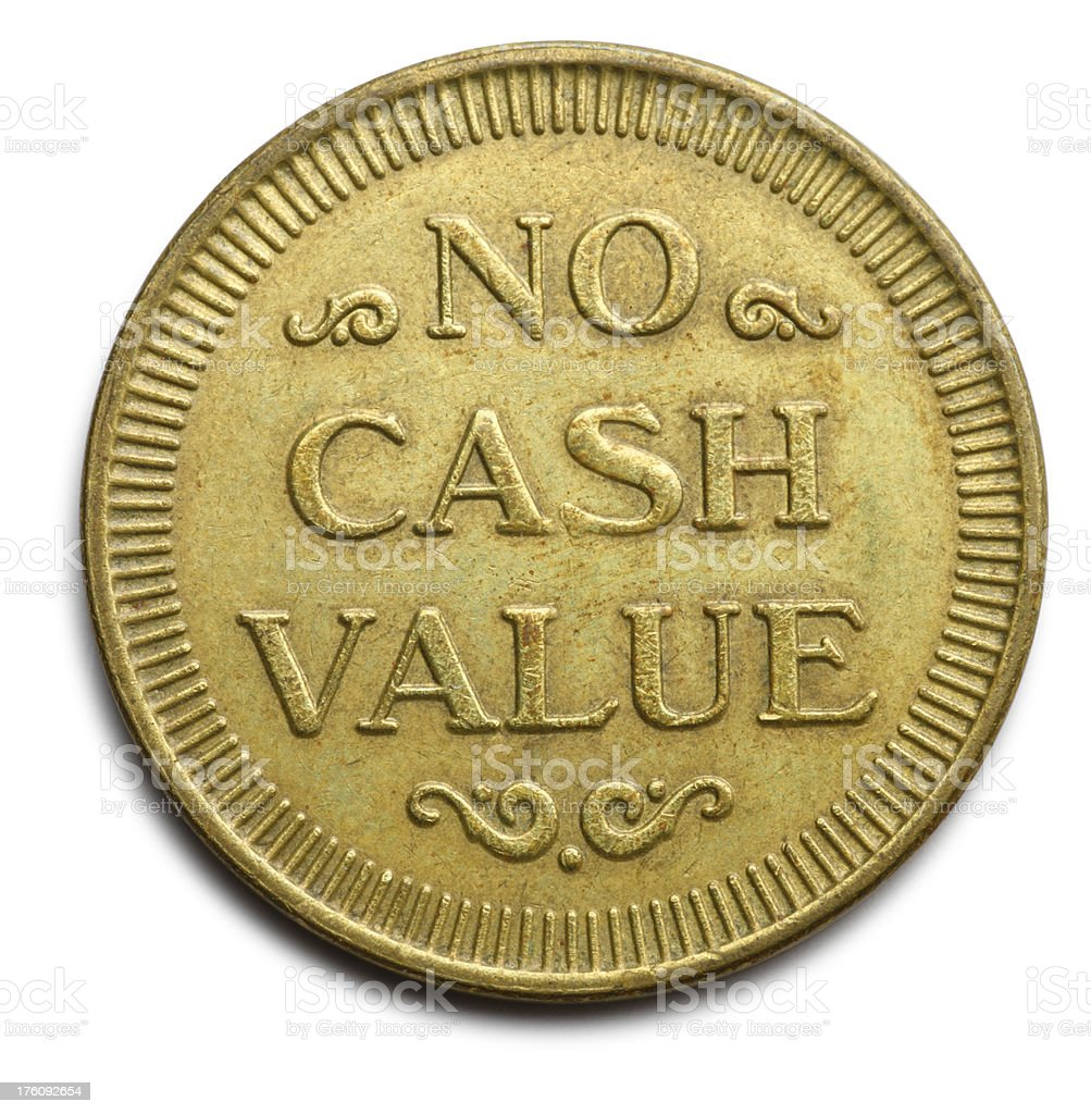 No Cash Value royalty-free stock photo