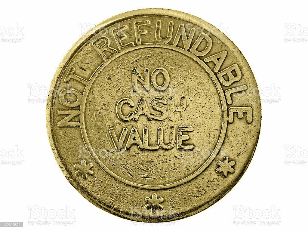 No cash value royalty-free stock photo