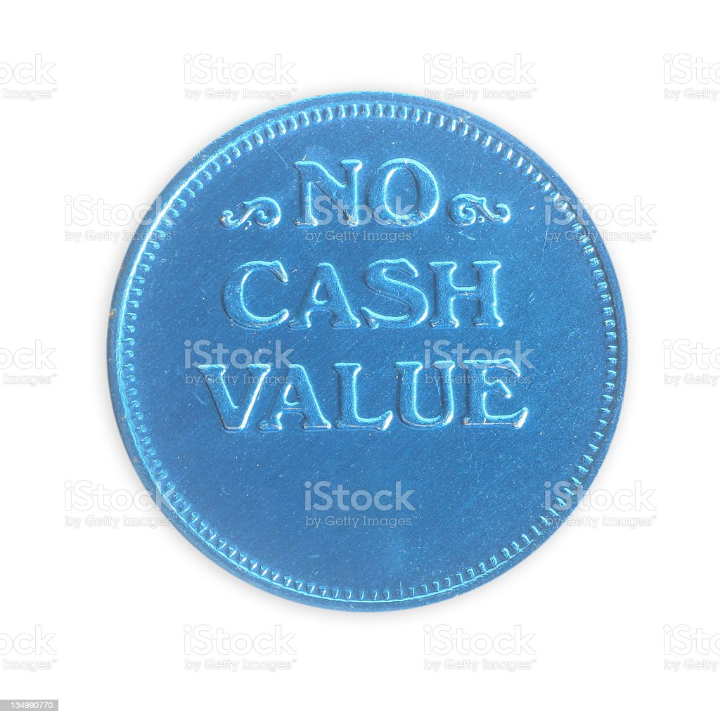 No Cash Value - Worthless Coin stock photo