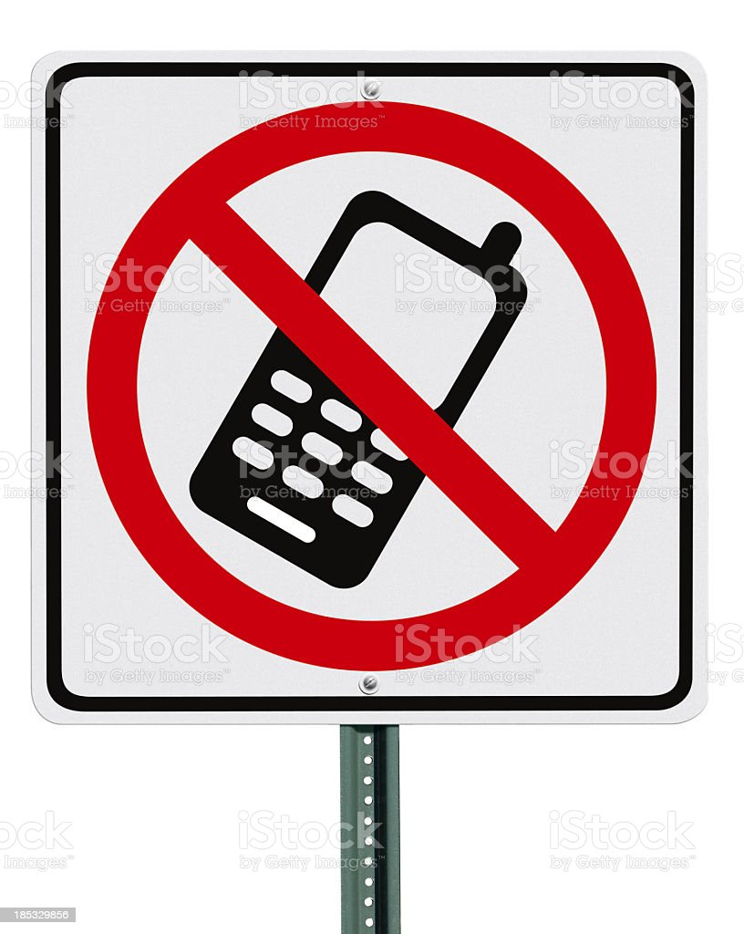 No Cell Phone Sign Isolated royalty-free stock photo