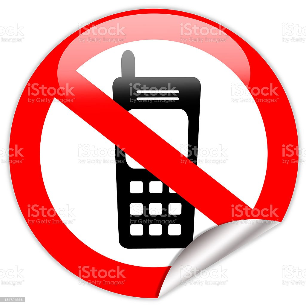 No cell phone sticker royalty-free stock photo
