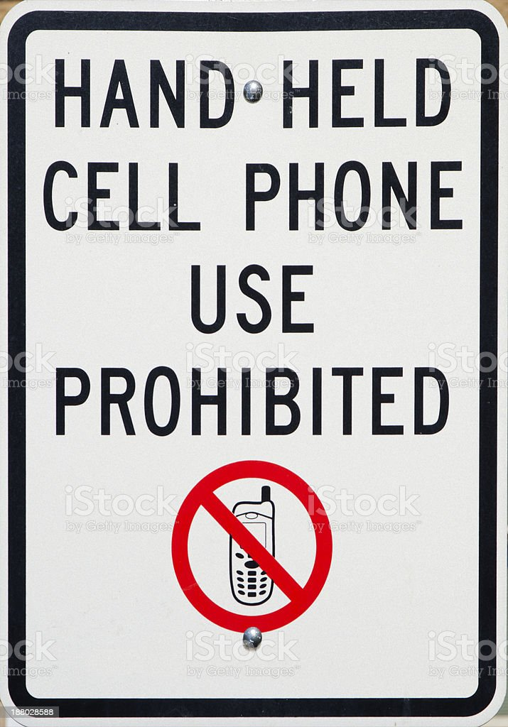No Cell Phone Use Allowed Sign royalty-free stock photo