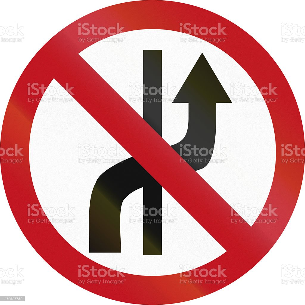 No Changing Lanes In Colombia stock photo