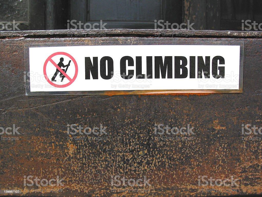 No Climbing Sign royalty-free stock photo