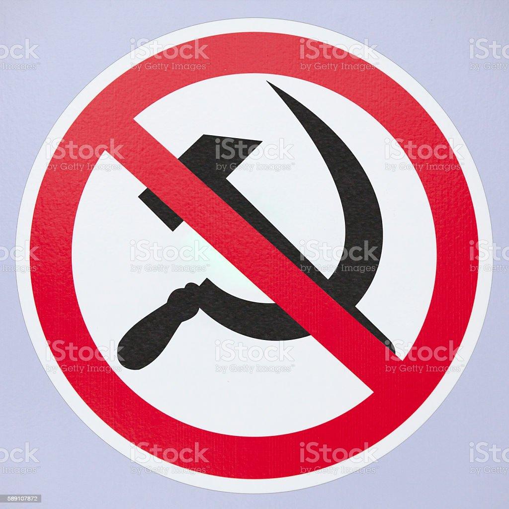 No Communist Sign stock photo