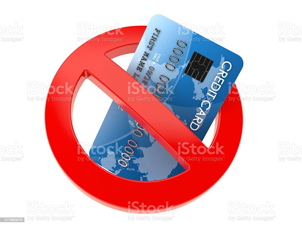 No Creditcard stock photo